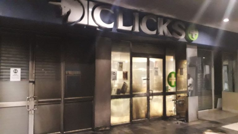 Clicks store in Witbank 'petrol bombed'