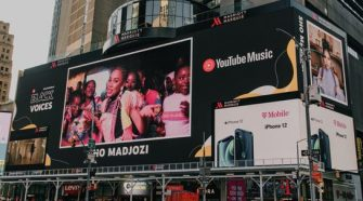 Sho Madjozi on Time Square billboard