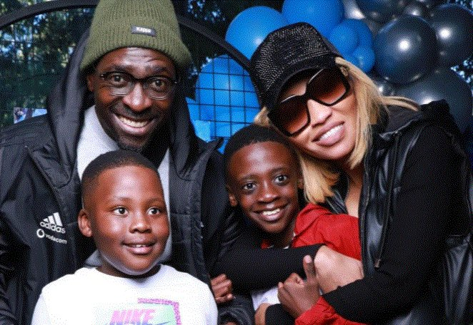 Norma Mngoma and Malusi Gigaba with their children