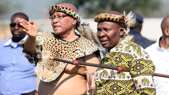 Jacob zuma and his brother Mike