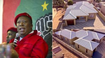 South Africa's Economic Freedom Fighters (EFF) leader Julius Malema