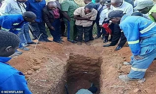 James Sakara, 22, was found dead after being dug back up